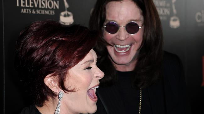 Soulmates ... Ozzy with wife Sharon. He says he's going to keep touring solo to keep her in shoes. Picture: AP