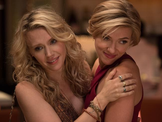 Kate McKinnon and Scarlett Johansson in the female-skewing hybrid of The Hangover and Weekend At Bernie's.