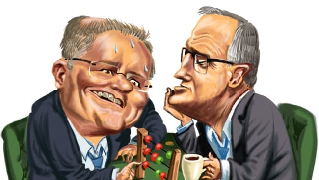 Image result for turnbull and morrison laughing