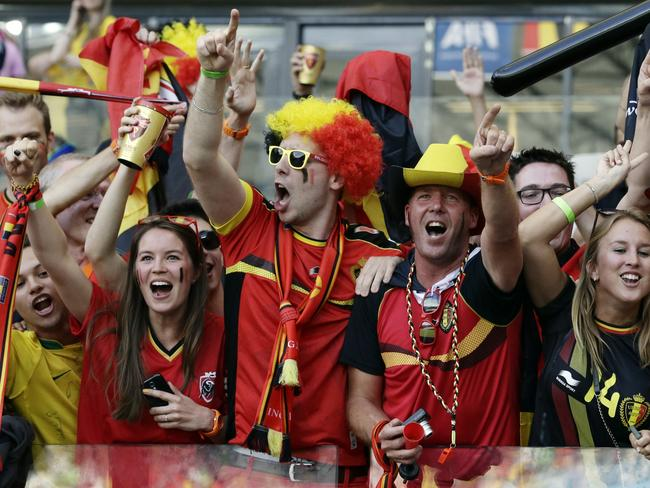 Yes Belgian really are the most boring fans at the Cup.