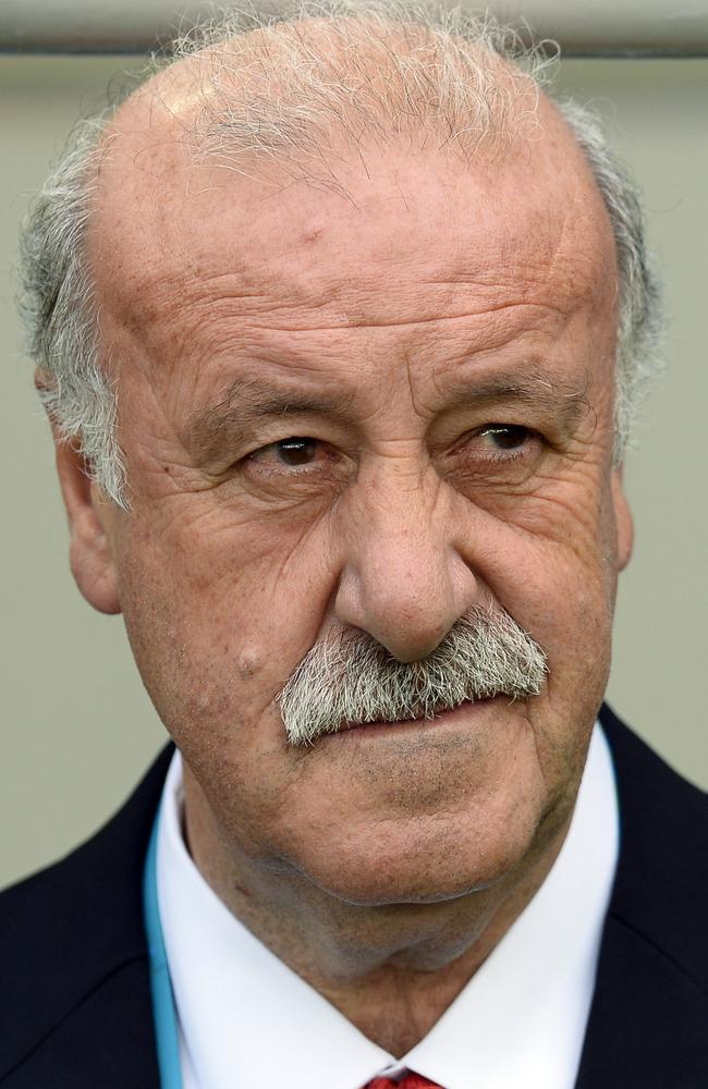 Spain's head coach Vicente Del Bosque couldn't believe what he was seeing in the first half against Chile.