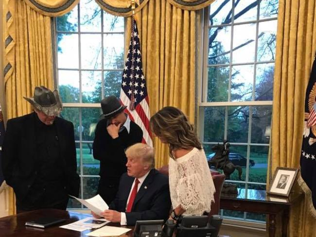 Sarah Palin visits Donald Trump in the White House and brought some friends along. Picture: Sarah Palin/Facebook