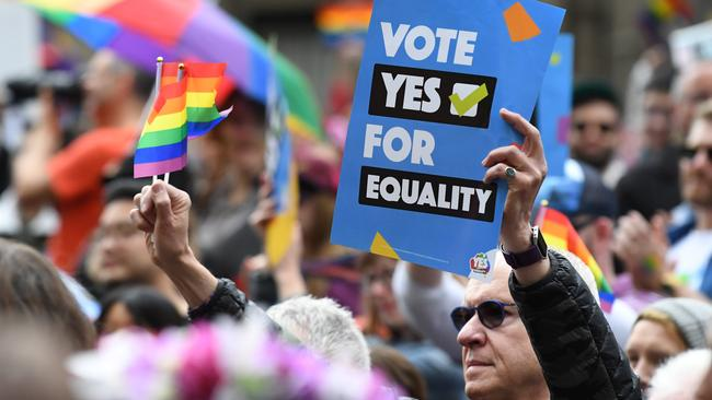 A Yes rally in Melbourne: Picture: AAP Image/James Ross.