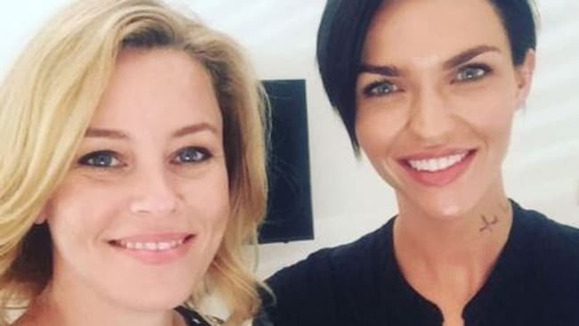 Ruby Rose and Director Elizabeth Banks both posted the same picture on social media, hinting at a possible movie role. Picture: Instagram/rubyrose