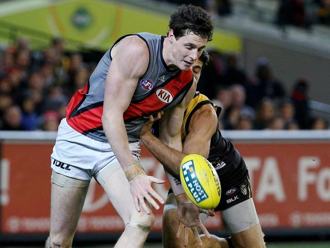 Essendon is hoping Jake Carlisle will produce a big game against North Melbourne. Picture: Colleen Petch