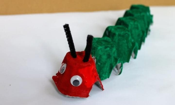 Egg carton Very Hungry Caterpillar