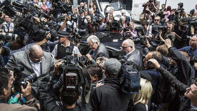 Disgrace ... Rolf Harris leaves Southwark Crown Court after being found guilty.
