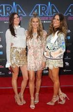 Brooke McClymont, Mollie McClymont and Samantha McClymont of The McClymonts arrive on the red carpet for the 31st Annual ARIA Awards 2017 at The Star on November 28, 2017 in Sydney, Australia. Picture: Getty