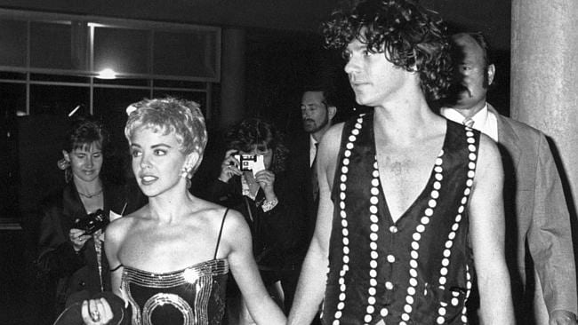 Kylie opens heart on Hutchence