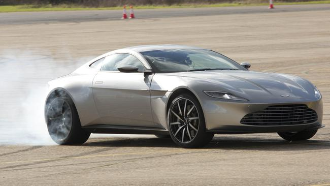 The Aston Martin DB10 in action at the Sprectre Blu Ray Launch in London Pix: Tim Anderson/ C20th Fox
