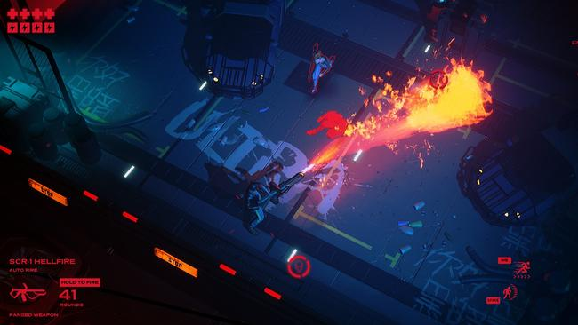 Your character fights through waves and waves of enemies in a bloody and frenzied fashion.