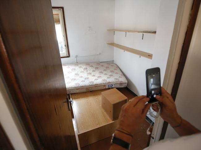 Es Satty's bedroom after police officers carried out a search linked to the deadly Barcelona terror attack. Picture: AFP