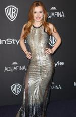 Bella Thorne arrives at the InStyle and Warner Bros. Golden Globes afterparty at the Beverly Hilton Hotel on Sunday, Jan. 10, 2016, in Beverly Hills, Calif. (Photo by Matt Sayles/Invision/AP)