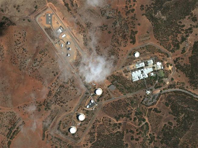 Top Secret sites: Australian Defence Satellite Communications Ground Station at Kojarena, WA. Source: Google Earth