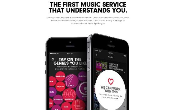 Beats Music service offers related tracks chosen by industry experts, not robotic algorithms.