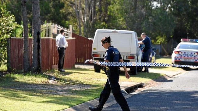 Police seal off a section of Mungara Court at Wondunna after a suspected stabbing. Picture: Alistair Brightman