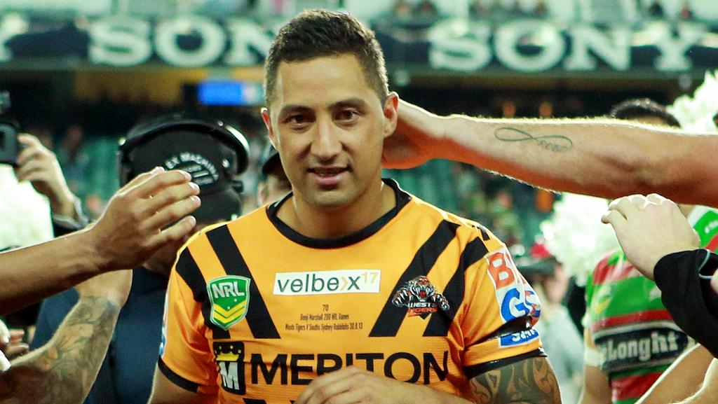 Benji Marshall will return to the Wests Tigers in 2018.