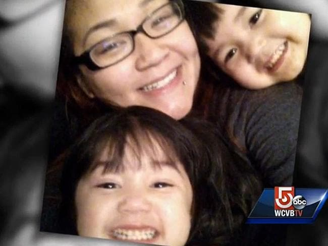 Mother's love... Ms Tran says her maternal insticts kicked in when she threw herself in front of the rolling vehicle.