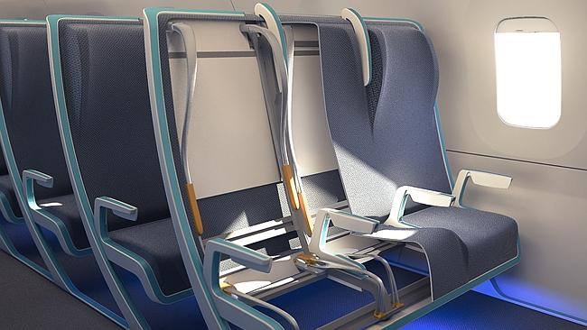 """The """"hammock"""" seats are adjustable according to the needs of different passengers. Picture: SeymourPowell."""