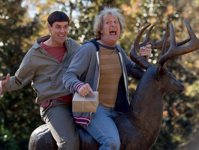 Jim Carrey, with Jeff Daniels, is probably best known for his role in Dumb and Dumber. Picture: Supplied