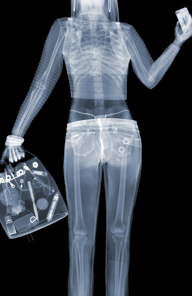 Night out ... nothing to hide in this photo which features in Nick Veasey's latest exhibition 'X-ray Voyeurism'. Picture: Splash
