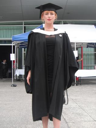 Ms Webster graduating from Griffith University in 2011.