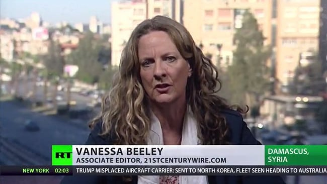 Vanessa Beeley is another high-profile activist who campaigns against White Helmets.
