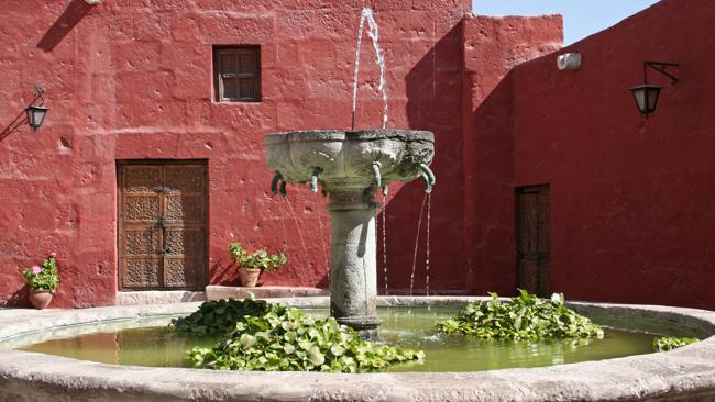 A fountain in Arequipa. Picture Supplied