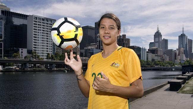 Sam Kerr is hoping her fortune comes true. Photo: Michael Klein