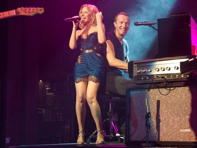 Star power ... Kylie Minogue performs with Coldplay at The Enmore Theatre in Sydney.