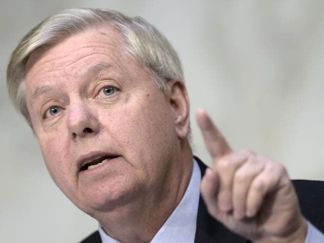 Republican Senator Lindsey Graham said Donald Trump has told him he would go to war to destroy North Korea rather than allow it to develop a long-range nuclear-armed missile. Picture: Brendan Smialowski/AFP