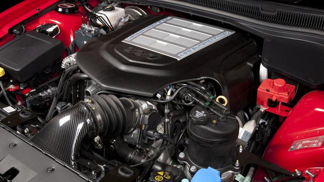 The heart of the matter and what the fuss is all about: the LS9 supercharged V8. Picture: Supplied.