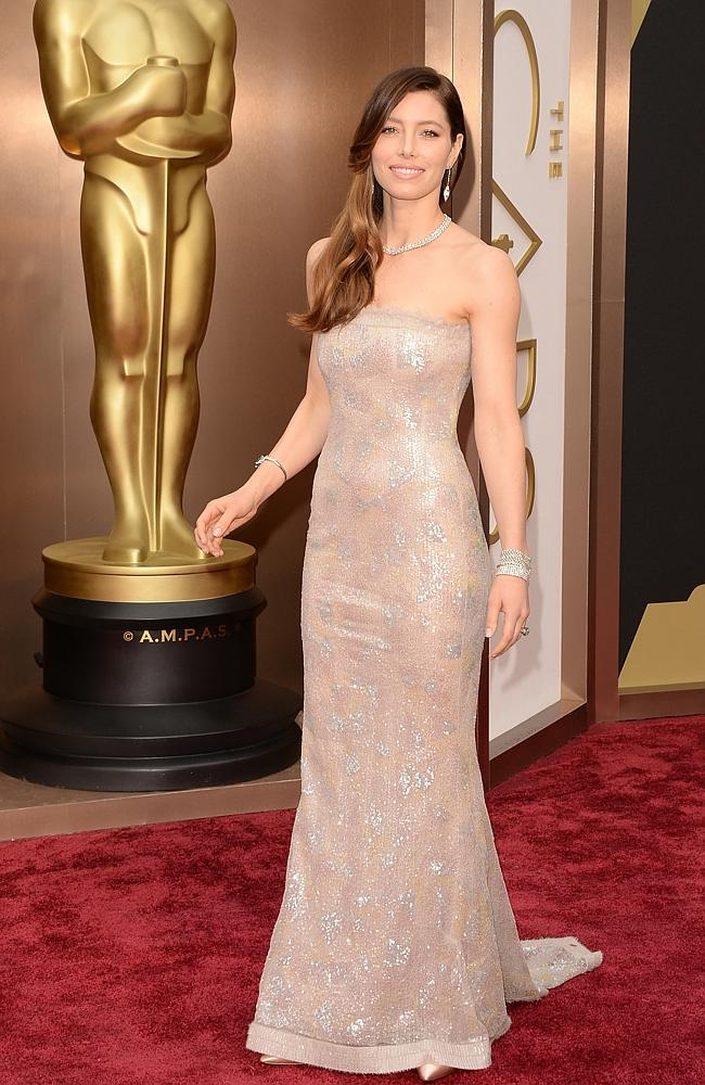 Actress Jessica Biel attends the Oscars held at Hollywood & Highland Center on March 2, 2014 in Hollywood, California. (Photo by Jason Merritt/Getty Images)