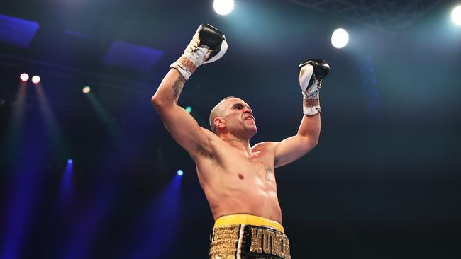 Anthony Mundine after beating Tommy Browne at The Star casino, Sydney. Picture: Brett Costello