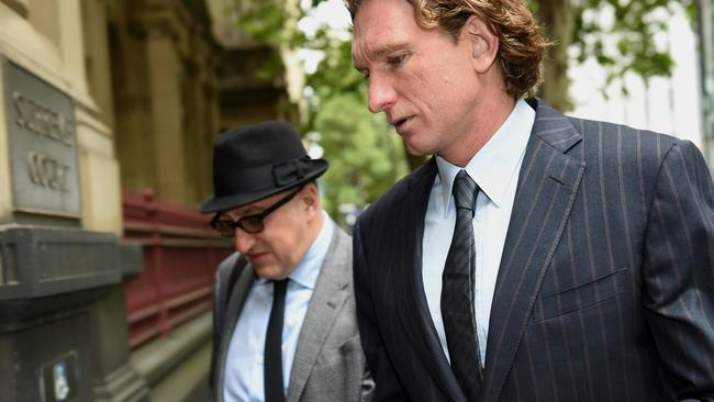 The past five years have been a series of battles for Hird, pictured here outsode the Supreme Court. Picture: Nicole Garmston