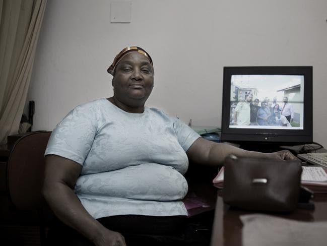 Dona Maria was in charge of registering people that were living in the building and producing documents necessary for the negotiations with the Mayor of Sao Paulo. Picture: Felipe Paiva/Newsmodo