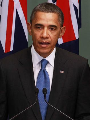 Obama in Australia in 2011. Picture: Gary Ramage