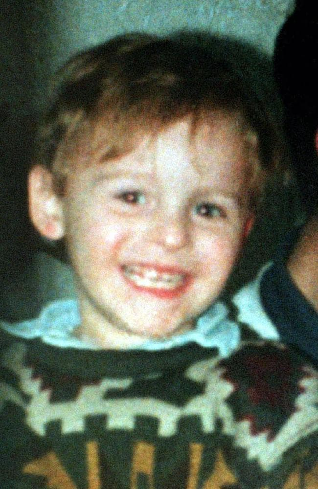 James Bulger was beaten to death by Jon Venables and Robert Thompson on a railway line in Liverpool, England, in February 1993.