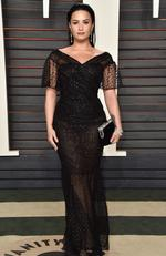Recording artist Demi Lovato attends the 2016 Vanity Fair Oscar Part. (Photo by Pascal Le Segretain/Getty Images)