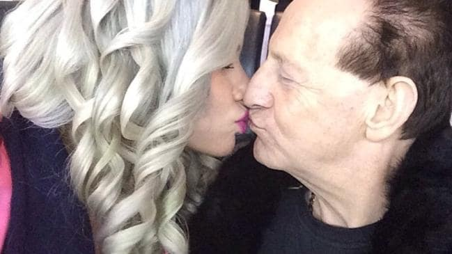 Geoffrey Edelsten with 24-year-old New York model Gabi Grecko.