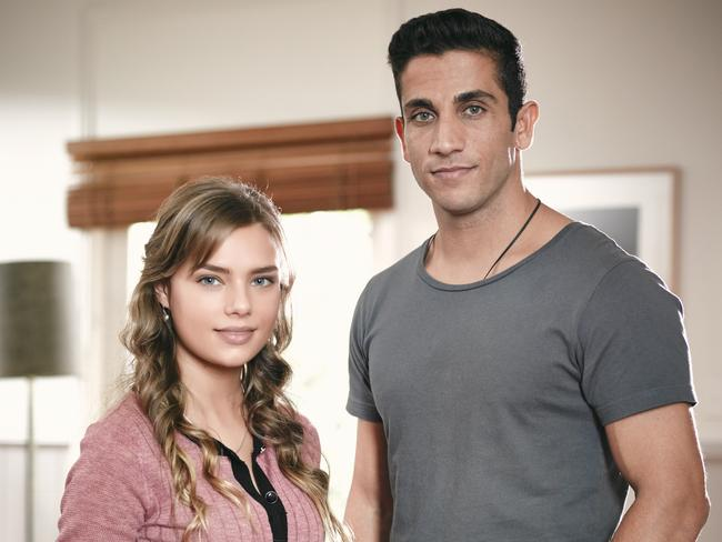 House Husbands' hot new couple? Indiana Evans and Firass Dirani.