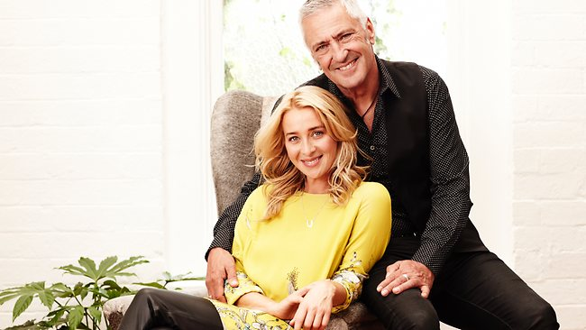 Asher Keddie and John Waters, who play Nina and Darcy in Offspring. Picture: Channel 10