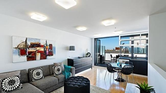 A three-bedroom sky terrace at 704/1 Lygon St, Brunswick Victoria. Picture: realestate.co