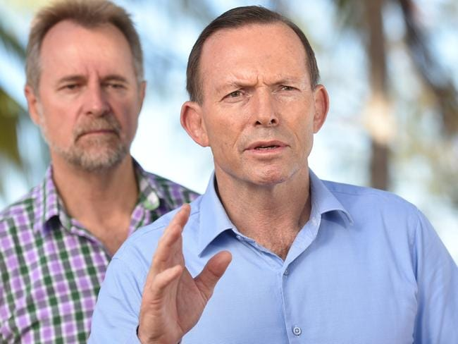 "Shame ... Prime Minister Tony Abbott says that those who ""demean"" the role of the Australian Border Force should be ashamed. Picture: AAP Image/Tracey Nearmy"