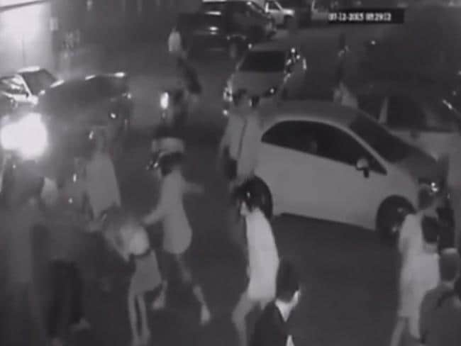 A gang of thugs viciously attacked the woman. Picture: YouTube