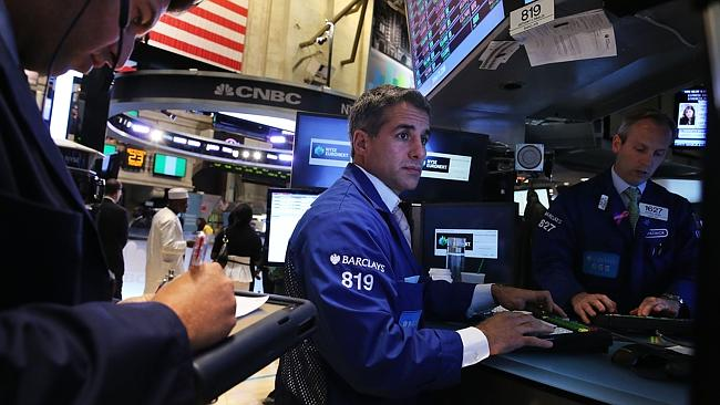 Traders at the New York Stock Exchange. Picture: Spencer Platt, Getty Images.