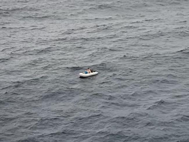 The young brothers were found after spending 21 hours on the water. Picture: Screengrab/9 News