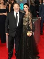American Hustle producer Harvey Weinstein and Georgina Chapman attend the EE British Academy Film Awards 2014 at The Royal Opera House on February 16, 2014 in London, England. Picture: Getty