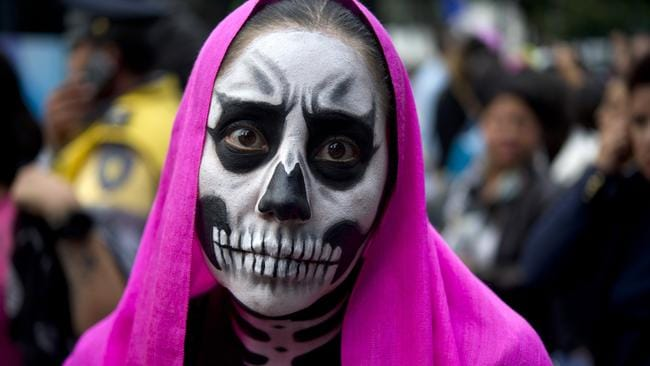 Date Announcements - Day of the Dead Skulls Halloween Save The Date ...