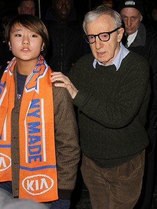 MUST CREDIT SPLASHGROUP WEB RIGHTS ONLYWoody Allen seen leaving Madison Square Garden after the Knicks Vs Heat game.
